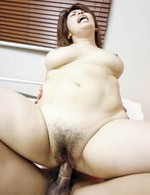 Yukari Asian babe rides hard shlong and gets sperm in her mouth