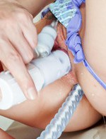 Kana Mimura with ball in mouth and legs in ropes gets vibrator