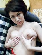 Huuka Takanashi Asian gets cum drops on her fine round boobies