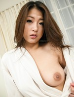 Satomi Suzuki Asian with fine boobs has hairy twat pumped so well