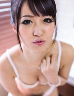 Kotomi Asian takes panty off and fucks her slit with dildo a lot