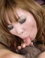 Ai Sakura Asian has sperm in mouth after licking balls and stiffy