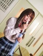 ロリカワ美少女杏樹紗奈のエッチなスクールディズ。放課後は、いつもムラムラ。リコーダーをズボッと挿入してイキまくる。