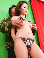 Rui Natsukawa Asian with firm assets has hairy love box licked