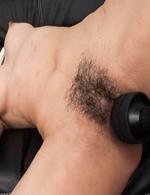 Miho Wakabayashi gets vibrators on dark pussy and on round boobs