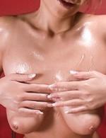 Sumire Matsu Asian with hot oiled curves sucks dick so erotically