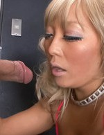 Rina Aina Asian has cum pouring from mouth after good blowjob