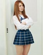 Slim schoolgirl Sakamoto Hikari rides a thick cock in classroom
