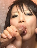 Haruka Uchiyama Asian with lotion on lustful body is well nailed