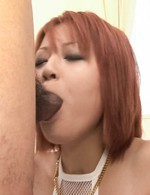 SARA Asian nymphet plays with naughty tongue on three shlongs