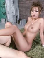 Juri Sawaki Asian sucks penis outdoor till gets cum on titties