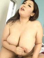 Yume Sazanami Asian takes dick between huge melons and in mouth