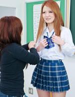 Cute Sakamoto Hikari shows off her cock sucking skills