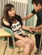 Yume Sazanami Asia shakes huge nude boobs during big frigging