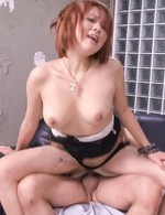 SARA Asian cupcake with juicy titties has strong peach drilling