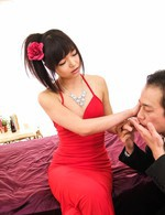 Megumi Shino Asian qith mosquito bites jumps on dick till cums