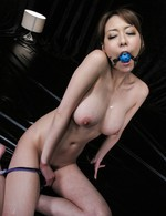 Akari Asagiri Asian is tied and fucked with vibrator in asshole