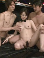 Group of horny guys enjoy everything Rino Asuka's body gives them
