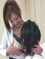 森永ひよこちゃんはブルルンHカップ爆乳家庭教師。中々勉強に身が入らない生徒にパイずりご奉仕。気持ち良すぎてソッコー発射!