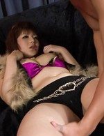 Kurara Iijima Asian with out of bra jugs gets vibrator on crack