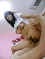 Buruma Aoi Asian rubs her clit while is pumped and sucks woody
