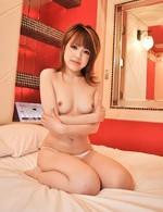 Azusa Miyakawa Asian fucks her peach with vibrator and licks cock