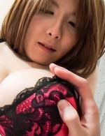 Yuna Hirose Asian with very big knockers has hairy slit screwed