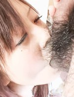Noriko Kago Asian receives woody in mouth before is deeply fucked