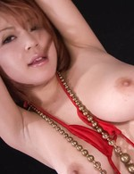 SARA Asian busty doll is tied and gets vibrator on cum dumpster