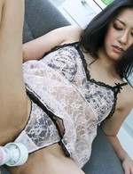 Ishiguro Kyoka fingered and teased in her white lingerie