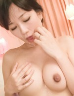 Manami Komukai Asian gets cum after cum on mouth from shlongs