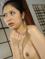 Cute Hana enjoys toying her pussy before eating cock