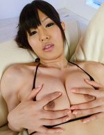 Nozomi Koizumi Asian gets vibrator on cunt while sucking boner