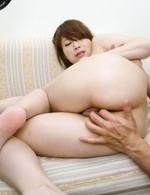 Mayuka Akimoto Asian has round tits sucked and jumps on shlong