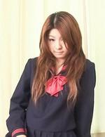 Maya Asian doll rubs her naughty love box under school uniform