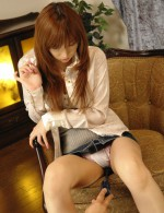 Serina Hayakawa gets her skirt up for toy play