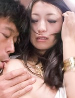 Nana Kunimi Asian gets cock doggy style and shakes juicy titties