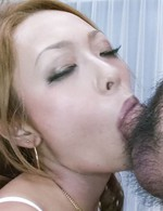 Rei Miyakawa Asian is so erotically sucking and rubbing boners