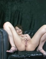 Saki Ootsuka Asian is fingered in her aroused with vibrator twat