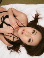 Kanako Tsuchiyo in sexy black stockings sucking dick