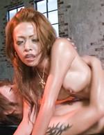 Rei Miyakawa Asian has hot body oiled and big mood for frigging