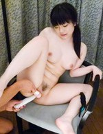 Hina Maeda Asian is fucked with dildo and has vibrator on clit