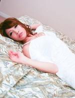 Japanese darling Aya Sakuraba on all fours her pussy stuffed full