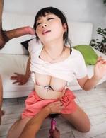 爆乳Fカップ羽月希ちゃんが全身電マ責めで喘ぎまって、イキまくり!ご奉仕のバキュームフェラから、連続口内射精でザーメンを受け止める!