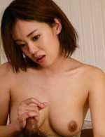 Yuna Satsuki Asian with cans in bra licks and sucks dick so well