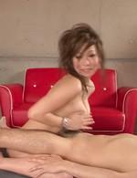 Ren Mizumori Asian is fucked between big boobs and in fish taco