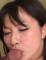 Megumi Haruka Asian puts cock in cock while licking them both
