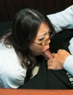 Ibuki the gorgeous sexy secretary facefucked and facialized