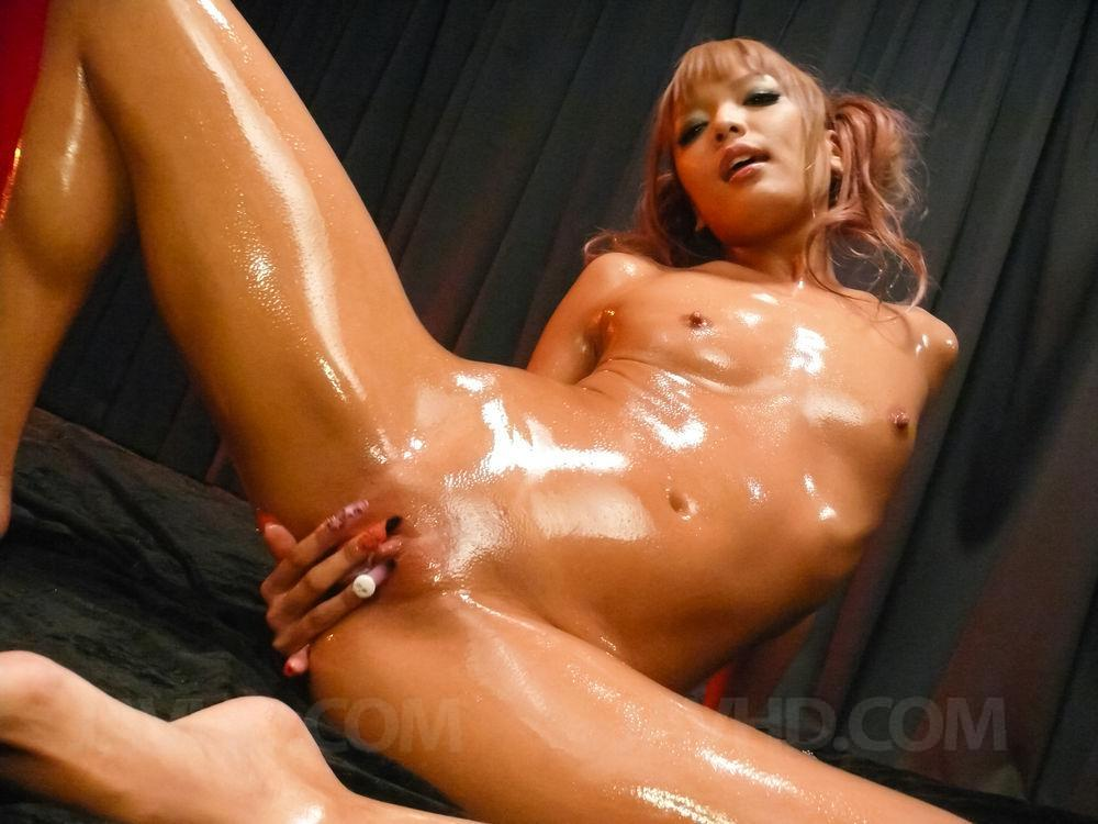 Burnette with big tits