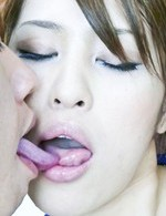 Sara Seori Asian rubs boner and licks it till cum is on her hands